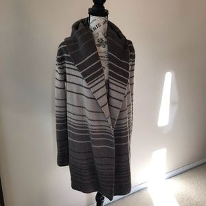 Vince hooded striped sweater cardigan XS